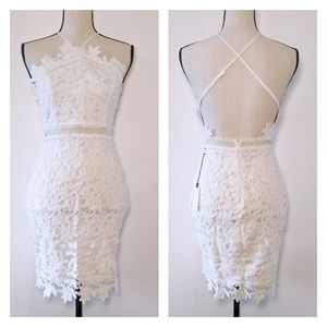 🆕NWT ASTR the Label White Lace Dress